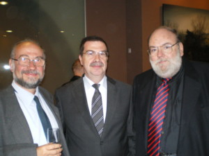 Claudi Alsina amb Joaquim Jimenez i Josep Mª Fortuny