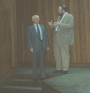 Claudi Alsina amb Lluís A. Santaló
