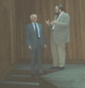 Claudi Alsina amb el Lluís A. Santaló