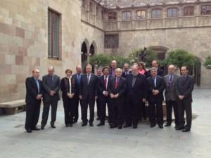 Claudi Alsina amb la junta del Consell Ineruniversitari de Catalunya