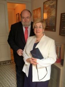 Claudi Alsina amb la seva dona Carme Burgués