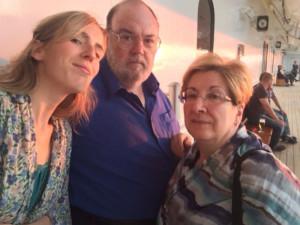 Claudi Alsina amb la seva dona Carme Burgués i la seva filla Victòria