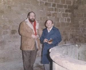 János Aczél amb en Claudi a Poblet